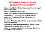 bbt3 health service circular published november 2007