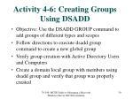 activity 4 6 creating groups using dsadd