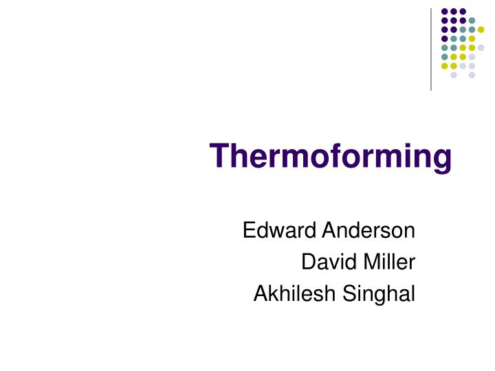 thermoforming n.