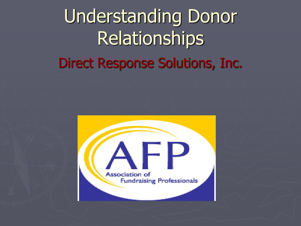 understanding donor relationships l.