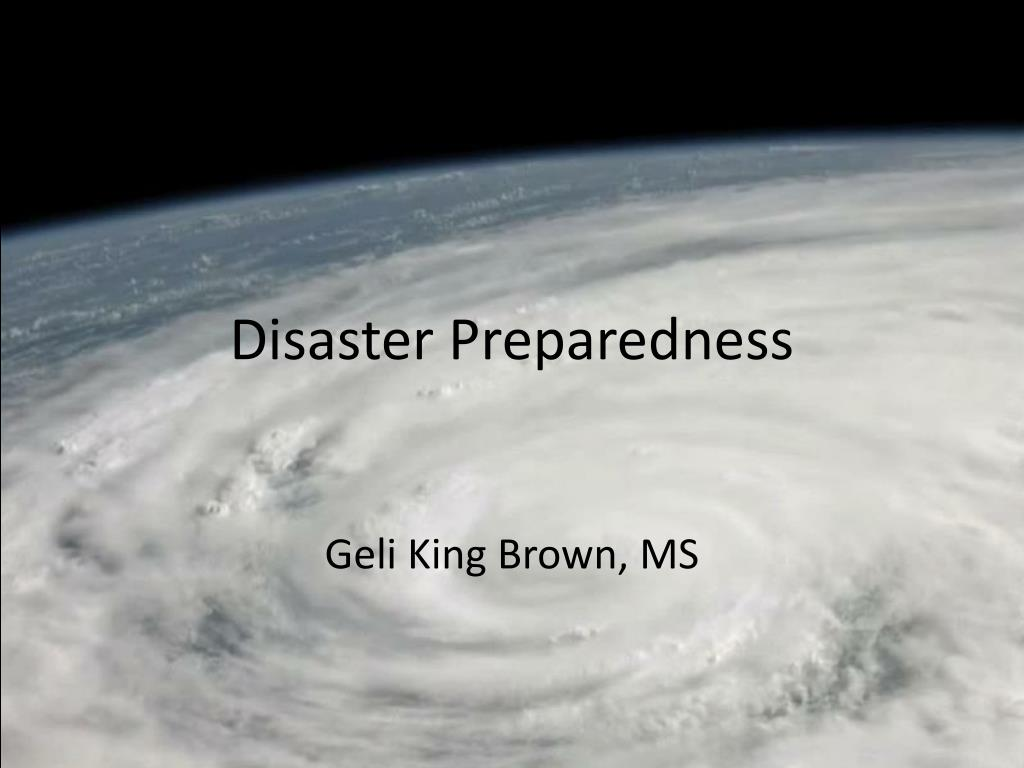 disaster preparedness l.
