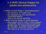 1 3 who clinical stages for adults and adolescents