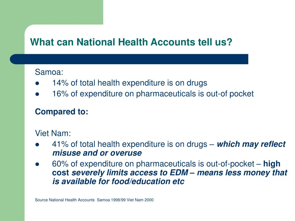 What can National Health Accounts tell us?