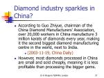 diamond industry sparkles in china