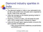 diamond industry sparkles in india