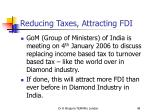 reducing taxes attracting fdi