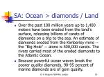 sa ocean diamonds land