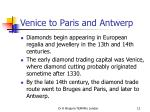 venice to paris and antwerp