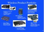wireless product portfolio