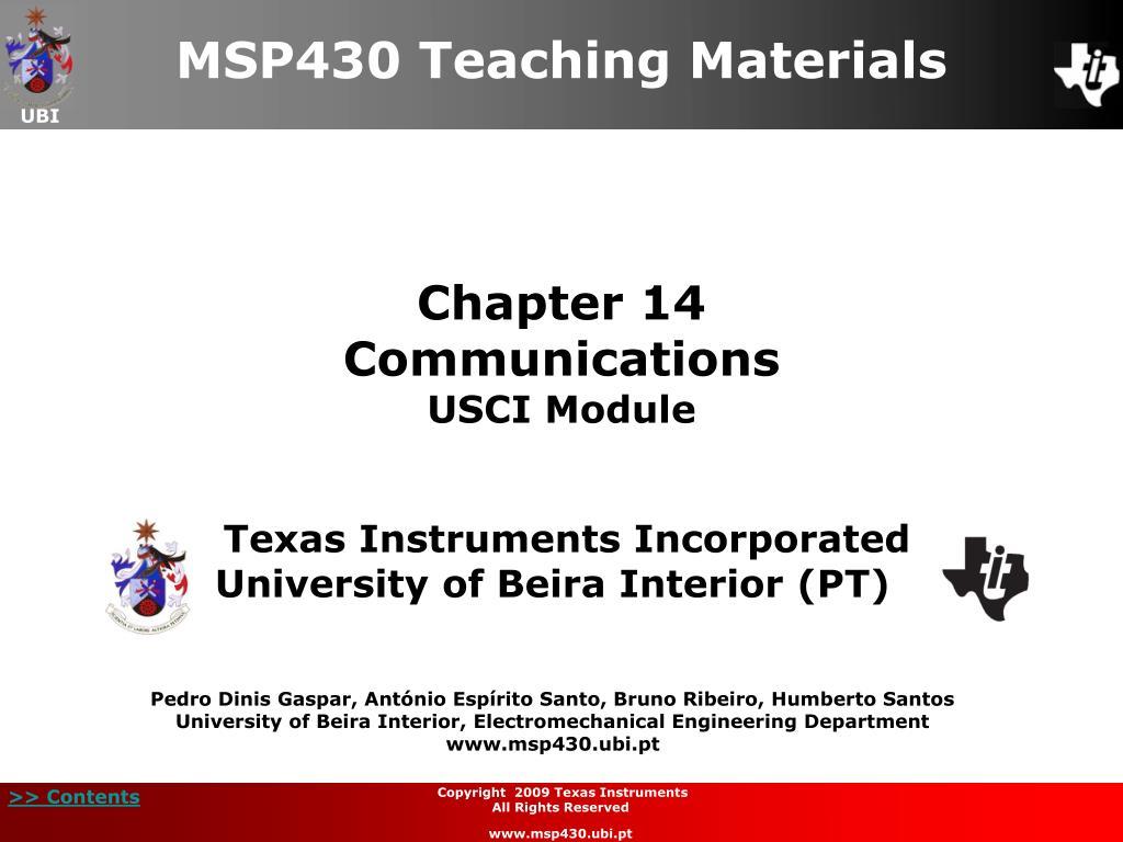 chapter 14 communications usci module l.
