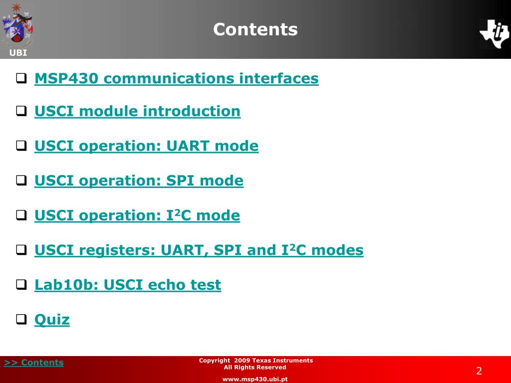PPT - Chapter 14 Communications USCI Module PowerPoint Presentation