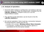 lab10a echo test using usci module uart73