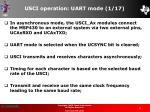usci operation uart mode 1 17