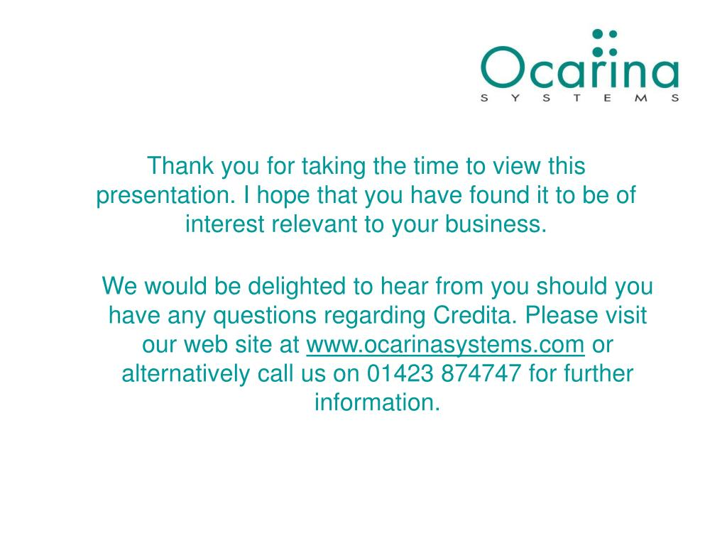 Thank you for taking the time to view this presentation. I hope that you have found it to be of interest relevant to your business.