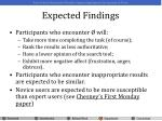 expected findings