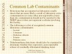 common lab contaminants