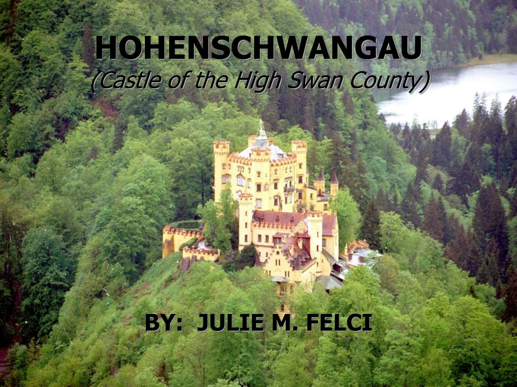 hohenschwangau castle of the high swan county l.