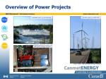 overview of power projects