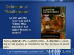 definition of adulteration