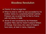 bloodless revolution