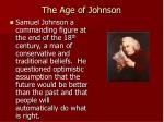 the age of johnson