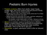 pediatric burn injuries