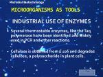 microorganisms as tools