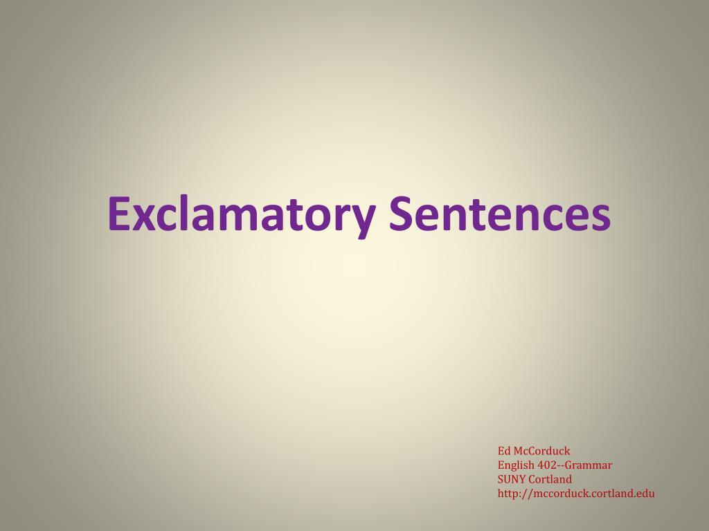 exclamatory sentences l.