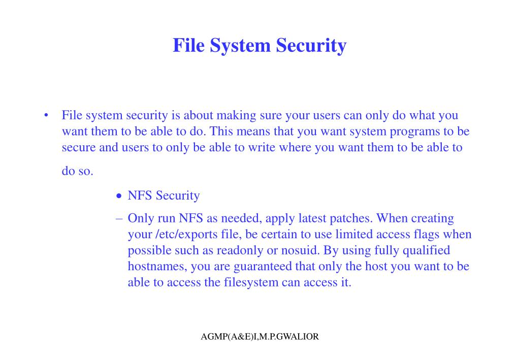 File System Security