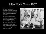 little rock crisis 1957