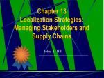 chapter 13 localization strategies managing stakeholders and supply chains
