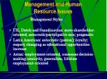management and human resource issues19