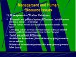 management and human resource issues21
