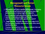 management and human resource issues22