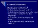 financial statements44