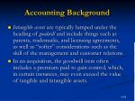 accounting background