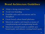 brand architecture guidelines