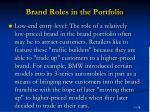 brand roles in the portfolio78