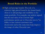 brand roles in the portfolio79