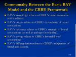 commonalty between the basic bav model and the cbbe framework