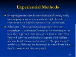 experiential methods