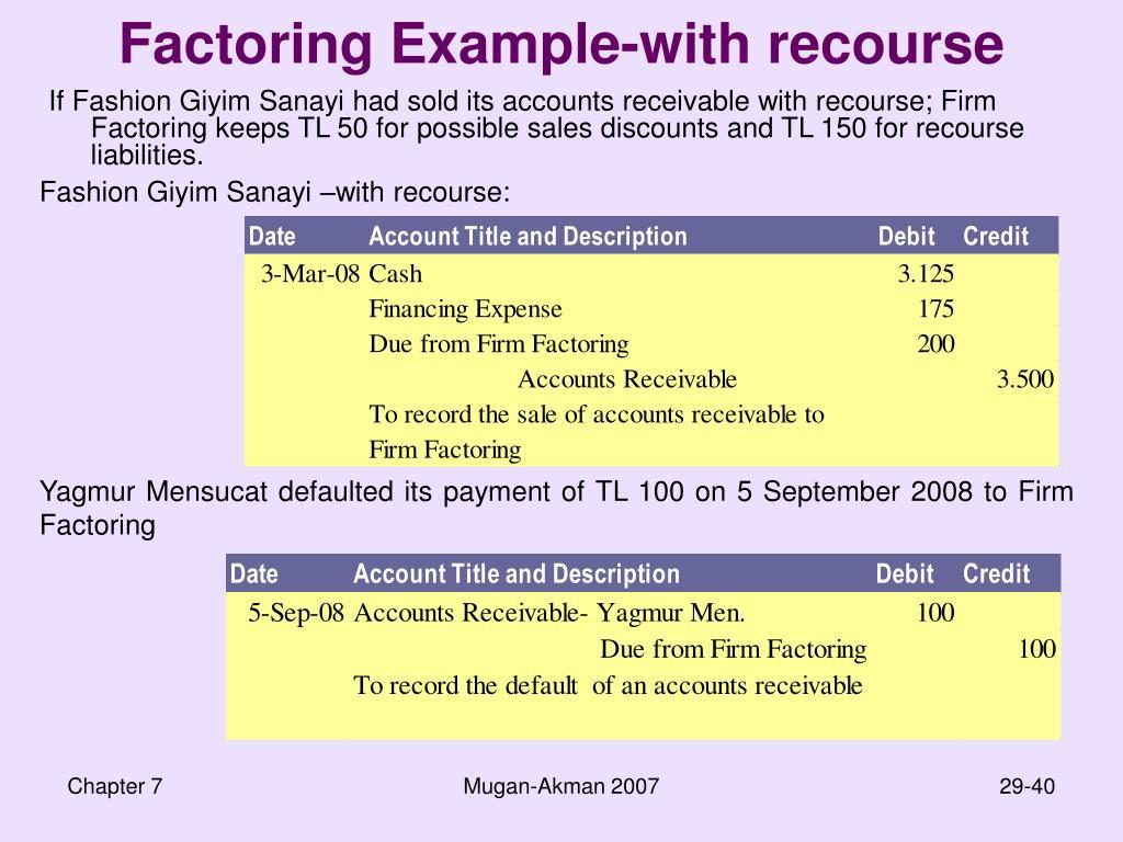 Factoring Example-with recourse