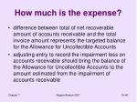 how much is the expense