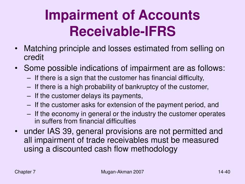 Impairment of Accounts Receivable-IFRS