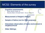 mcs2 elements of the survey