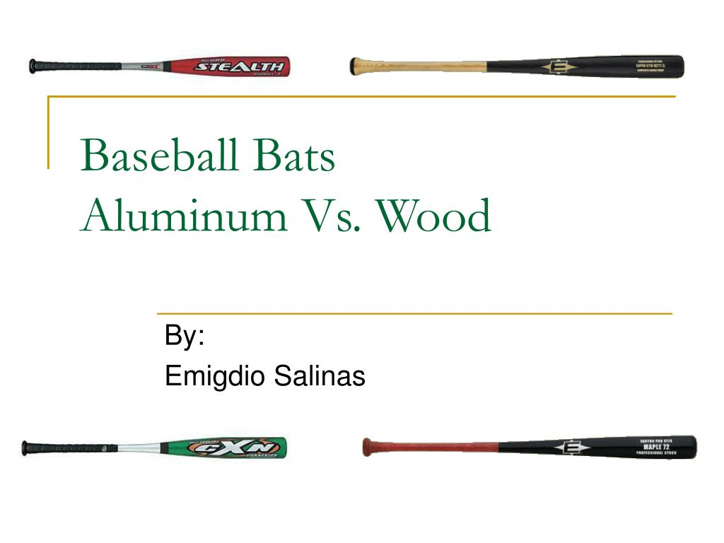 baseball bats aluminum vs wood l.