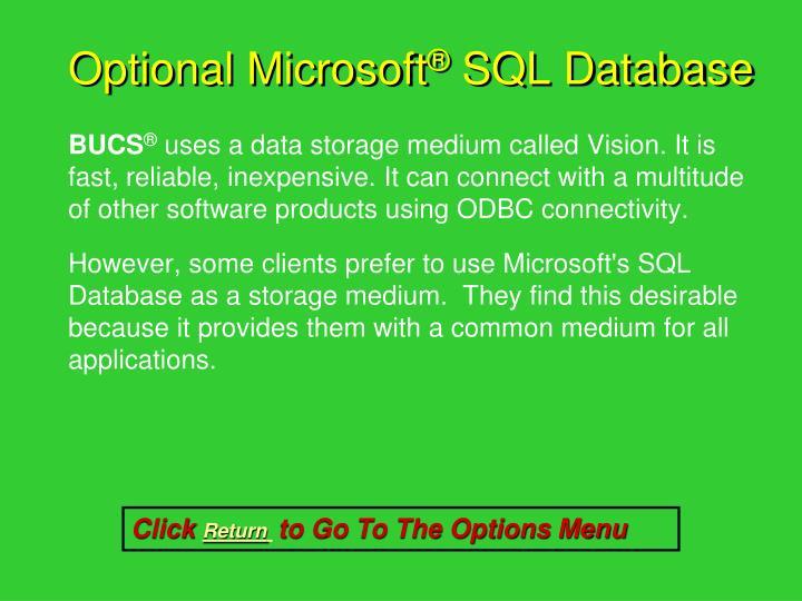 Optional Microsoft