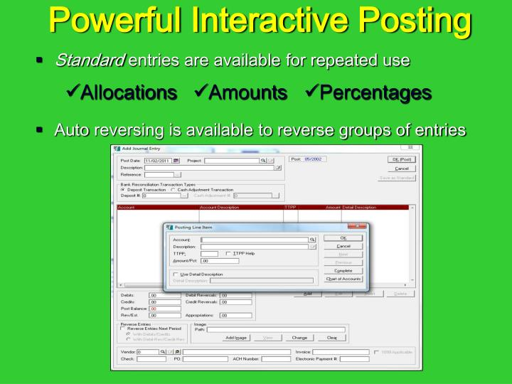 Powerful Interactive Posting
