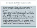 payments to other departments