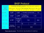bhip protocol